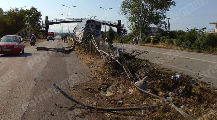 Λεωφορείο σκόρπισε τον τρόμο στην Πατρών Πύργου – Από θαύμα δεν υπήρξαν τραυματισμοί