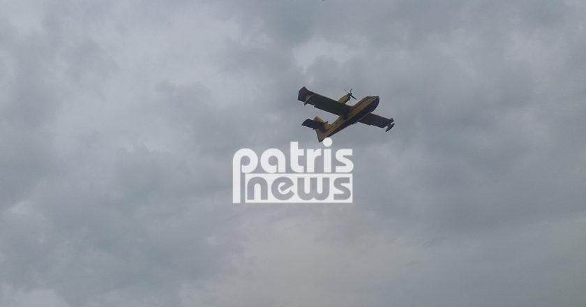 Πυροσβεστικο αεροσκαφος canadair που πεταει