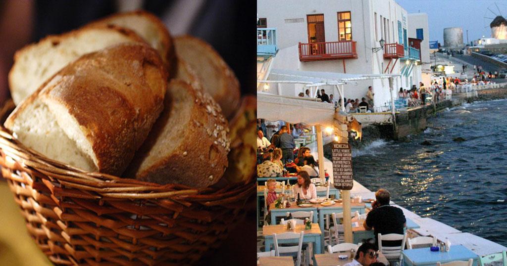 Αποτέλεσμα εικόνας για Μύκονος: Πλήρωσαν 7 ευρώ για μια φέτα ψωμί (pic)