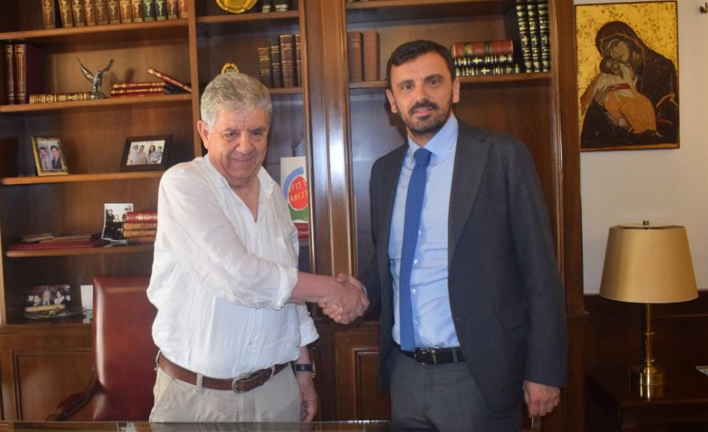 Aνδρ. Νικολακόπουλος: Συνάντηση με Μητροπολίτη Ηλείας και Δήμαρχο Πύργου