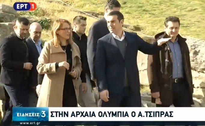 Ο Αλέξης Τσίπρας στην Ηλεία - Οι πρώτες στάσεις σε Λεχαινά και Αρχ. Ολυμπία όπου συναντήθηκε με τους Δημάρχους κ.κ. Γιάννη Λέντζα και Γιώργο Γεωργιόπουλο-  Ξεσηκωθείτε για το Πάτρα Πύργος - Φοβάμαι ότι πάει στις καλένδες (photos- BINTEO)