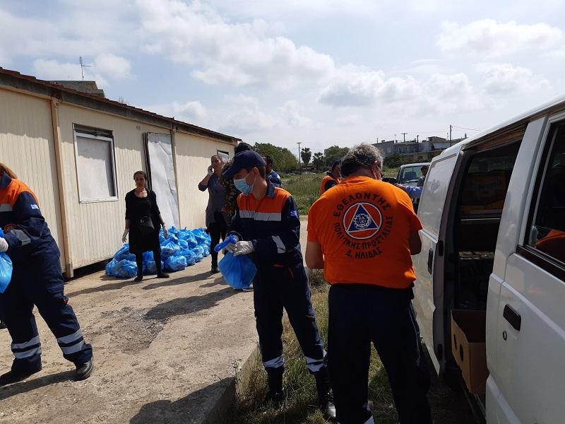 Δήμος Ήλιδας: «Διανομή τροφίμων και υγειονομικού υλικού σε ευπαθείς ομάδες πληθυσμού και οικισμούς Ρομά» (photos)