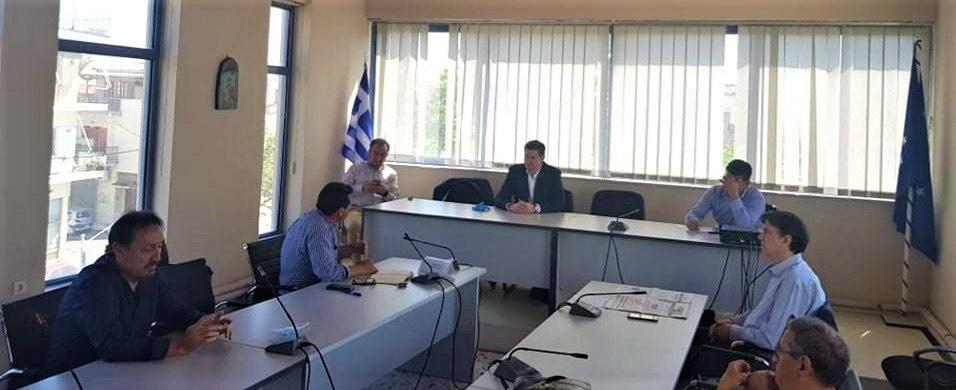 Συνάντηση Δ. Καλαματιανού, μελών Ν.Ε. ΣΥΡΙΖΑ Ηλείας και στελεχών της τοπικής οργάνωσης ΣΥΡΙΖΑ, με το Δήμαρχο Ανδραβίδας-Κυλλήνης