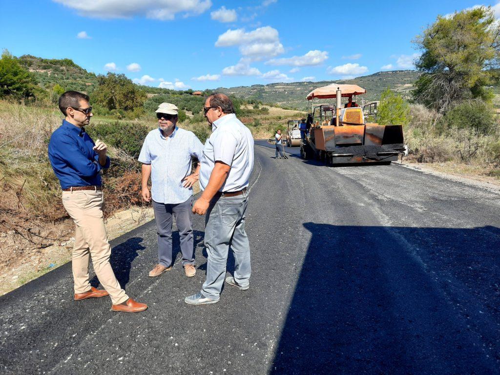 Π.Ε. Ηλείας: Επίβλεψη από τον Αντιπ/άρχη Βασίλη Γιαννόπουλο των εργασιών συντήρησης του οδικού δικτύου στο Γούμερο