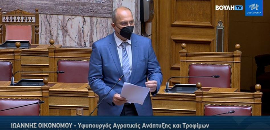 οικονομου στη Βουλη