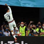 κριστιανο ροναλντο πανηγυριζει γκολ στο euro