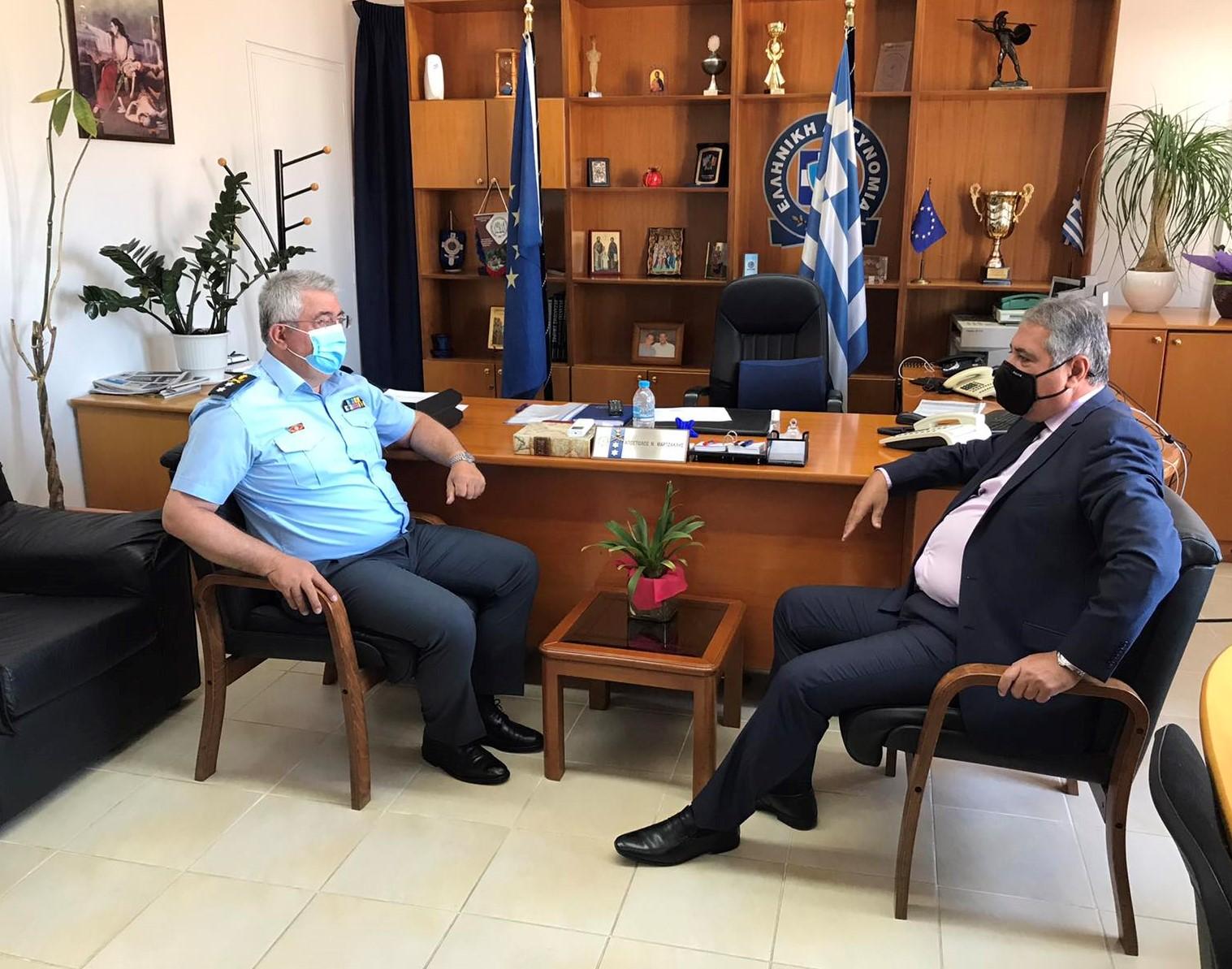Επίσκεψη Διοικητή 6ης ΥΠΕ στη Γενική Περιφερειακή Αστυνομική Διεύθυνση Δυτικής Ελλάδας