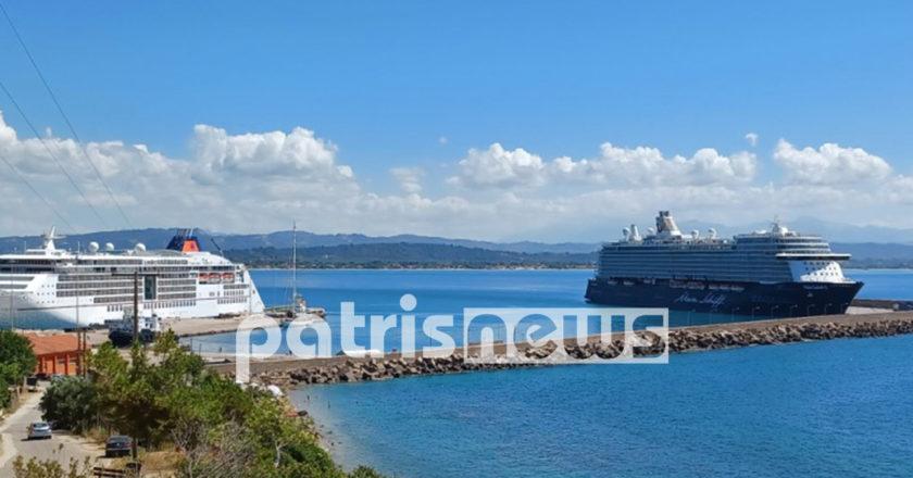 κρουαζιερόπλοια στο λιμάνι του Κατακόλου