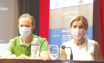 Η κτηνίατρος κ. Παναγιώτα Σκουρφούντα και ο ιατρός κ. Θεόδωρος Θεοδωρακόπουλος