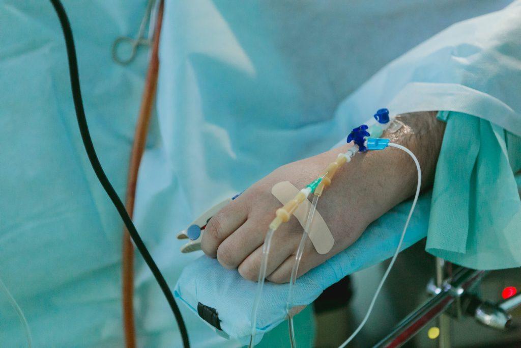 ασθενής στο νοσοκομείο